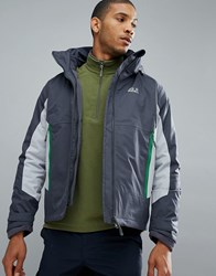 Jack Wolfskin North Border 3 In 1 Jacket In Dark Grey 6231 Ebony