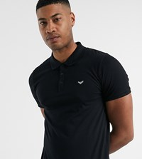 Threadbare Tall Basic Muscle Fit Polo Shirt In Black
