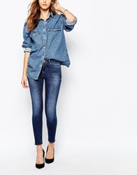 Noisy May Lucy Super Skinny Ankle Jean Blue