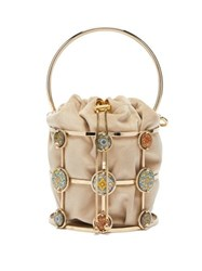 Rosantica By Michela Panero Sicilia Tile Cage Frame Bucket Bag Gold Multi