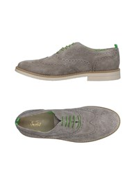 Snobs Footwear Lace Up Shoes Light Grey