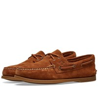 Sperry Topsider Authentic Original 2 Eye Suede Brown