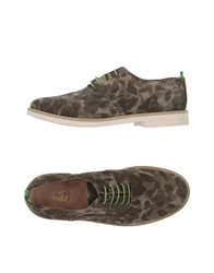 Snobs Footwear Lace Up Shoes Military Green
