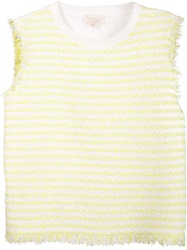 Giambattista Valli Striped Tank Top Yellow And Orange