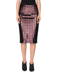 Marco De Vincenzo Knee Length Skirts Deep Purple