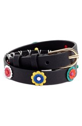 Tory Burch Women's Millefiori Leather Double Wrap Bracelet