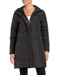 Ellen Tracy Quilted Faux Fur Lined Jacket Black