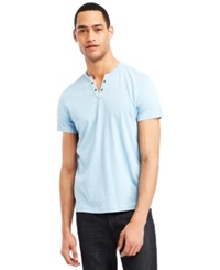 Kenneth Cole Reaction Eyelet T Shirt Light Cyan Blue