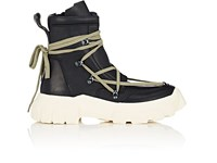Rick Owens Leather Hiking Boots Black