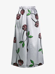 Natasha Zinko Cherry Print Satin Culottes Grey Cherry Green Black Red