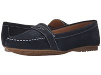 Sebago Meriden Penny Navy Nubuck Women's Slip On Shoes Blue
