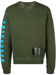 Dsquared2 Crew Neck Sweater Green