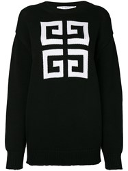 Givenchy Knitted Pattern Jumper Black