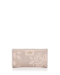 Kate Spade New York Cameron Street Stacy Perforated Leather Wallet Dolce Gold
