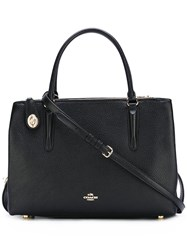 Coach Large Detachable Strap Tote Black