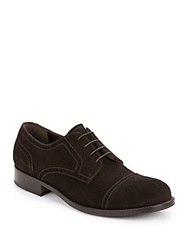 Giorgio Armani Suede Oxfords Dark Brown