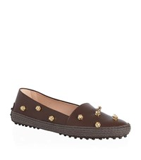 Tod's Gommino Leather Embellished Espadrille Female
