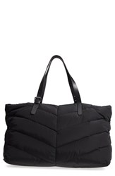 Mackage Emilee Quilted Nylon Weekend Tote Black Black Gunmetal