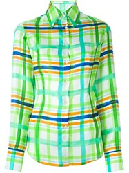 Daizy Shely Checked Shirt Green