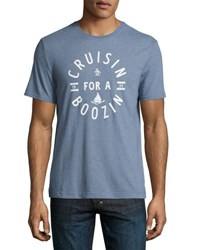Penguin Cruisin For A Boozin Jersey Tee Blue