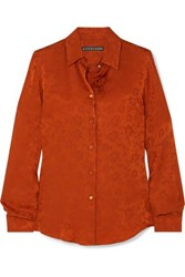 Alexachung Satin Jacquard Shirt Orange