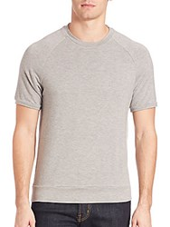 Saks Fifth Avenue Modern Crewneck Raglan Tee Grey