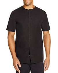 Blood Brother Contrast Yoke Button Front Shirt Black