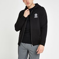 River Island Franklin And Marshall Black Zip Hoodie