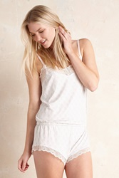 Eberjey Looking Glass Playsuit Neutral Motif