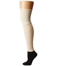 Bootights Ellevator Cream Women's Crew Cut Socks Shoes Beige