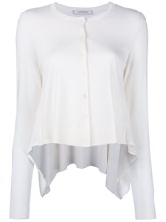 Dorothee Schumacher Button Up Cardigan White