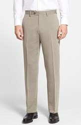 Men's Big And Tall Cutter And Buck Microfiber Twill Pants Oyster Beige