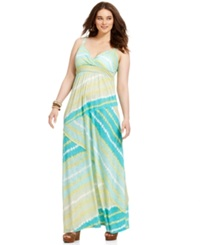 American Rag Plus Size Dress Sleeveless Tie Dye Maxi