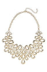 Cara Petal Statement Necklace Gold
