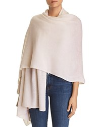 Bloomingdale's C By Lightweight Cashmere Travel Wrap 100 Exclusive Petal Pink