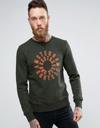 Scotch And Soda Printed Crew Sweater Green