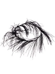 Ann Demeulemeester Feather Embellished Choker Black