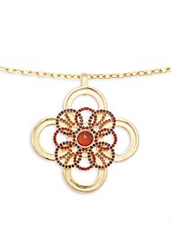 Stephanie Kantis Crystal Carnelian Amethyst And 24K Gold Removable Pendant