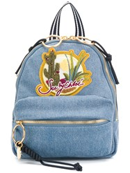 See By Chloe Desert Patch Backpack Blue