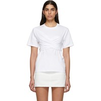 Cedric Charlier White Wrapped T Shirt