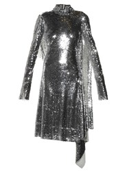 Vetements Open Back High Neck Sequin Dress