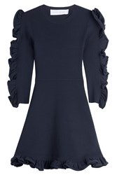 Victoria Victoria Beckham Dress With Ruffled Sleeves Blue