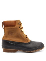 Sorel Cheyanne Ii Waterproof Nubuck Boots Black Brown