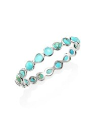 Ippolita 925 Rock Candy Wonderland All Around Turquoise Hinged Bangle Silver