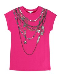 Little Marc Jacobs Essential Jersey Trompe L'oeil Tee Size 6 10 Pink
