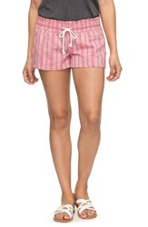 Roxy Oceanside Beach Shorts Holly Berry South Border