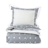 Gant Star Border Duvet Cover Grey Double 200 X 200 Cm