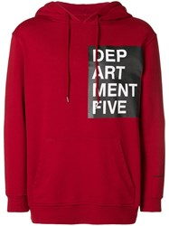 Department 5 Loose Fitted Hoodie Red