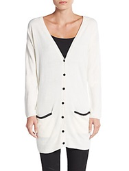 Bcbgeneration V Neck Long Cardigan Whisper White