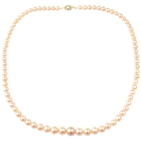 A B Davis Freshwater Pearl Necklace Blush